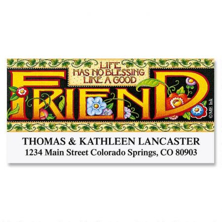 A Good Friend Deluxe Return Address Labels