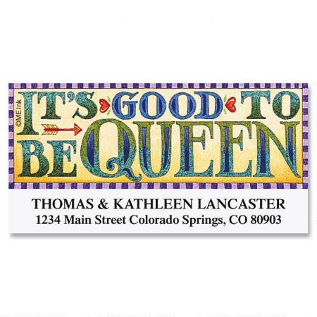 Good to be Queen by Mary Engelbreit® Deluxe Return Address Labels