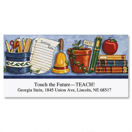 Deb's Tribute to Teachers Deluxe Address Labels