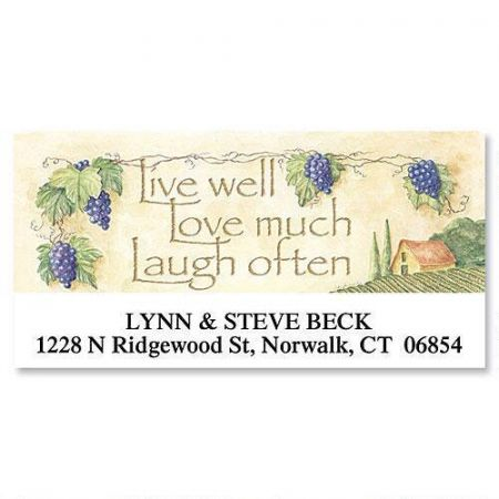 Live, Love, Laugh Deluxe Return Address Labels