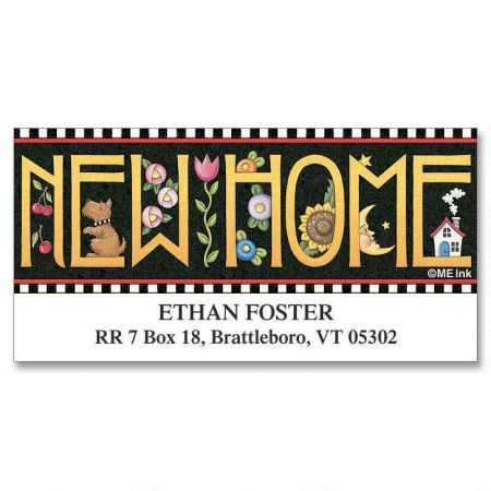 New Home Deluxe Return Address Labels