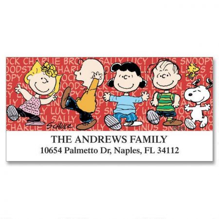 PEANUTS® Polka Deluxe Return Address Labels