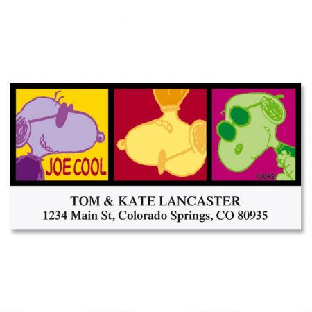 Cool Joe Cool Deluxe Return Address Labels