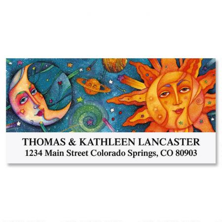 Moon & Sun Deluxe Return Address Labels