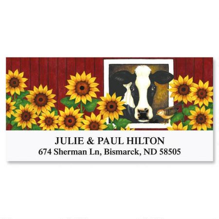 Moo with a View Deluxe Return Address Labels