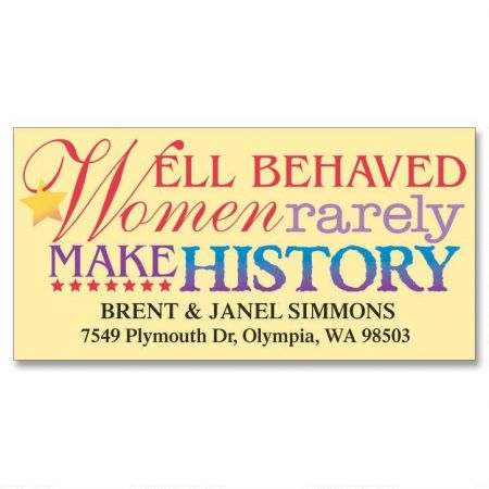 Well-Behaved Women Deluxe Return Address Labels