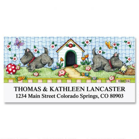 Scotties at Play  Deluxe Return Address Labels