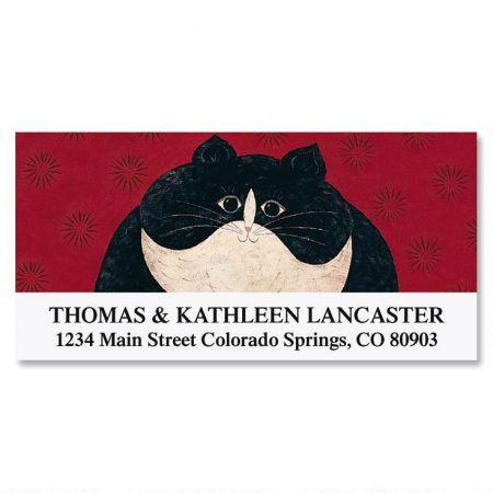 Kitty Deluxe Return Address Labels by Warren Kimble