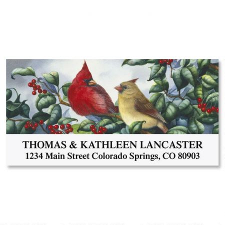 Cardinal Pair Deluxe Address Labels
