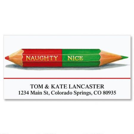 Naughty or Nice Deluxe Return Address Labels