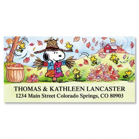 PEANUTS® Scarecrow  Deluxe Return Address Labels