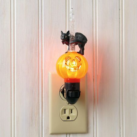 Halloween Cat Bubble Night Light
