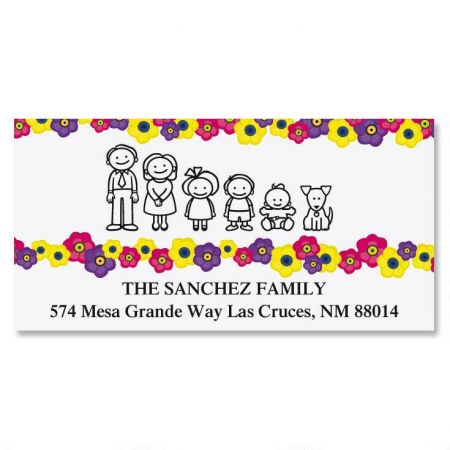 Our Family Blossoms Deluxe Return Address Labels