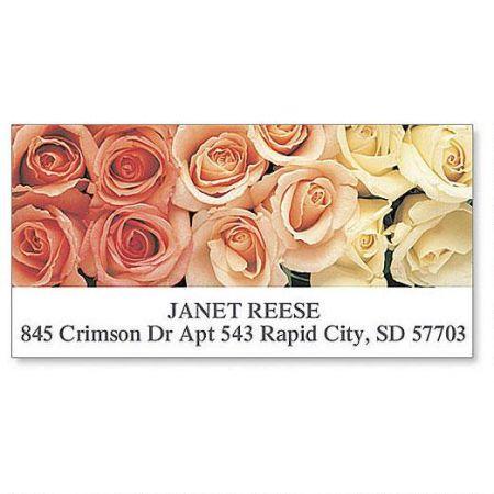 Peaches & Cream Deluxe Return Address Labels