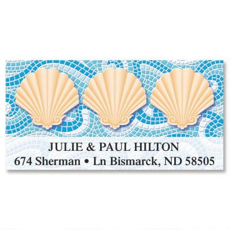 Ocean Mosaic  Deluxe Return Address Labels