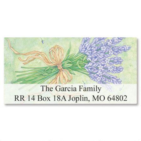 Lavender Bushel  Deluxe Return Address Labels