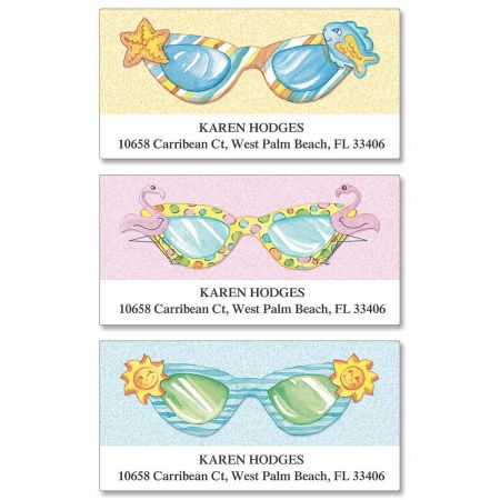 Fun Sunglasses Deluxe Return Address Labels  (3 Designs)