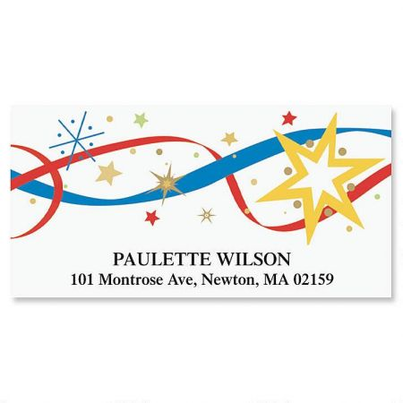 4th of July Deluxe Return Address Labels
