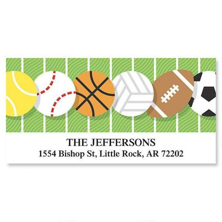 All Sports Deluxe Return Address Labels