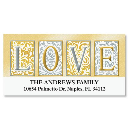 Love Deluxe Return Address Labels