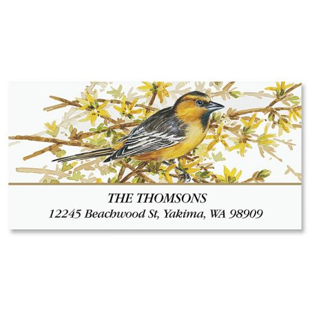 Goldfinch Deluxe Return Address Labels
