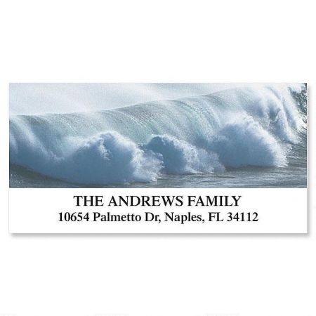 Thundering Surf Deluxe Return Address Labels