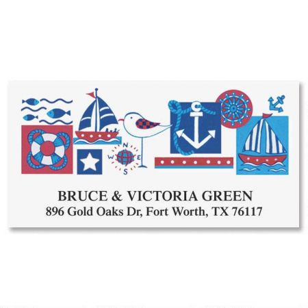 Nautical Deluxe Return Address Labels