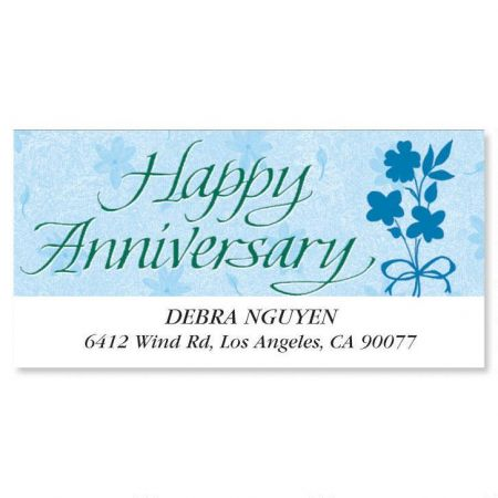 Happy Anniversary Deluxe Return Address Labels