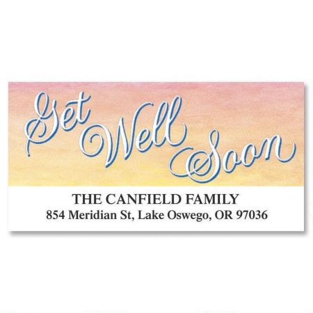 Get Well Deluxe Return Address Labels