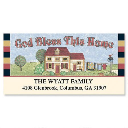 Bless This House Deluxe Return Address Labels