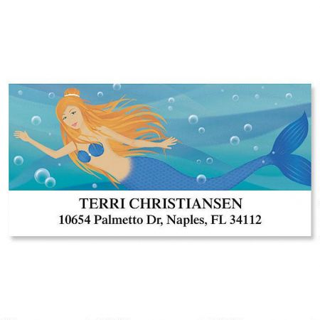 Mermaids Deluxe Return Address Labels