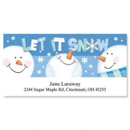 Let it Snow  Deluxe Return Address Labels