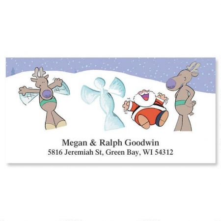 Snow Angel Deluxe Return Address Labels