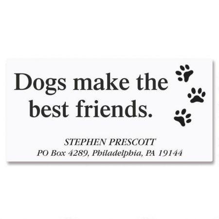 Dog's Life Deluxe Return Address Labels