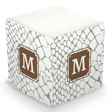 Custom Snakeskin Sticky Memo Cube
