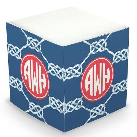 Custom Knot Sticky Memo Cube