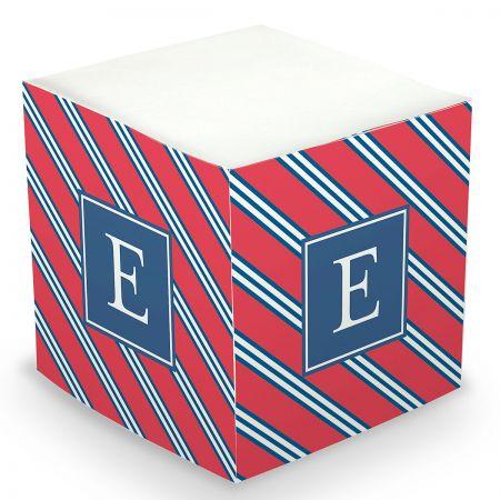 Custom Repp Tie Sticky Memo Cube