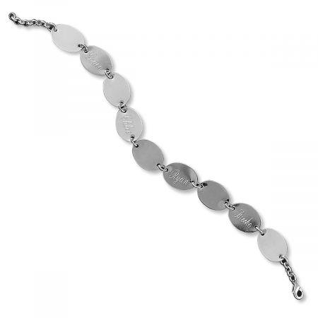 Custom Namesake Silver Link Bracelet