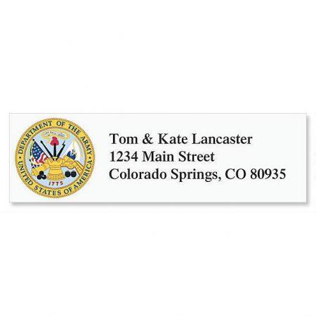 Army Classic Return Address Labels