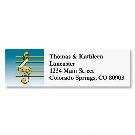Treble Clef Classic Return Address Labels