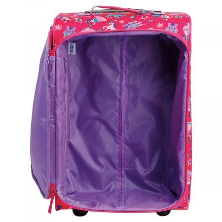"Custom Princess Print 22"" Rolling Travel Luggage by Stephen Joseph®"