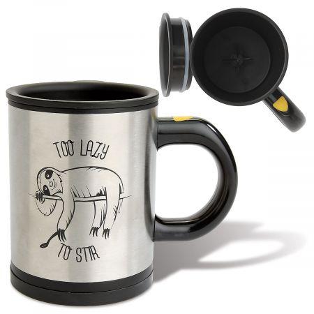 Self-Stirring Insulated Sloth Mug