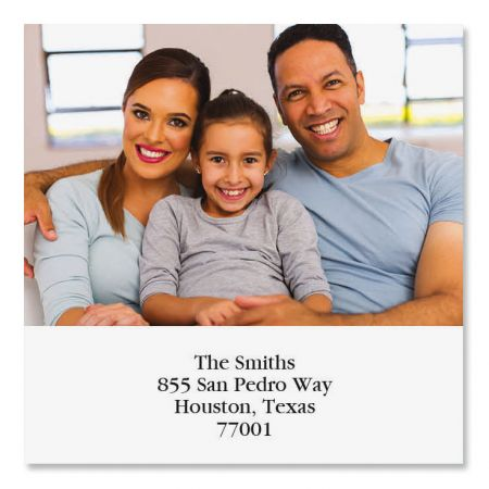 Direct Large Square Photo Return Address Label