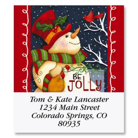 Be Jolly Select Christmas Address Labels