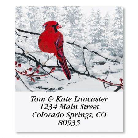 Heavenly Cardinals Select Christmas Address Labels