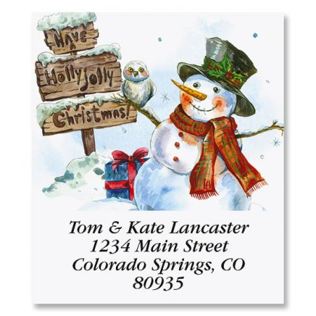 Snowman and Owl Select Return Address Labels