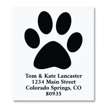Paw Print Select Return Address Labels