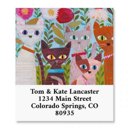Garden Cats Select Return Address Labels