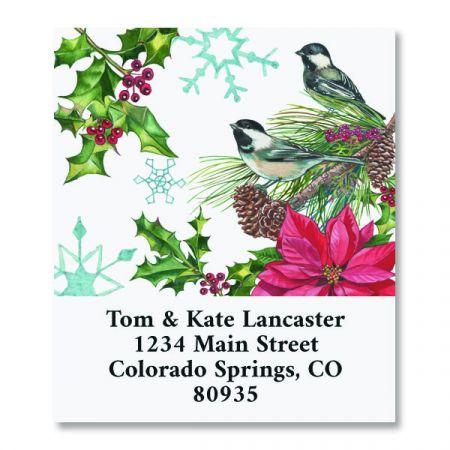 Christmas Chickadee Select Christmas Address Labels
