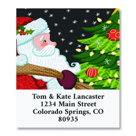 Santa's Visit a Select Return Address Labels